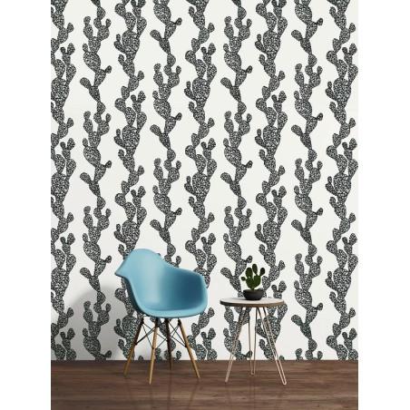 Papier peint Cactus gris - URBAN FLOWERS - AS Creation - 327992