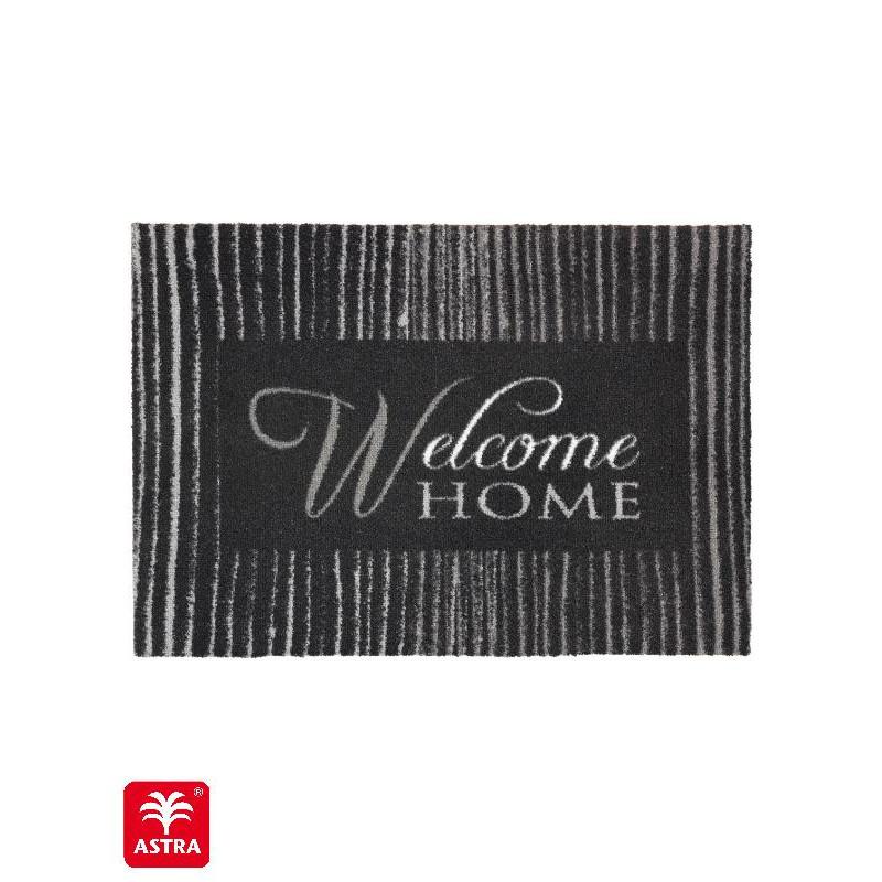 Paillasson imprimé Rayures Welcome Home gris Casadoor - Astra