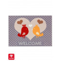 Paillasson imprimé Oiseaux Welcome - Happy Home - Astra
