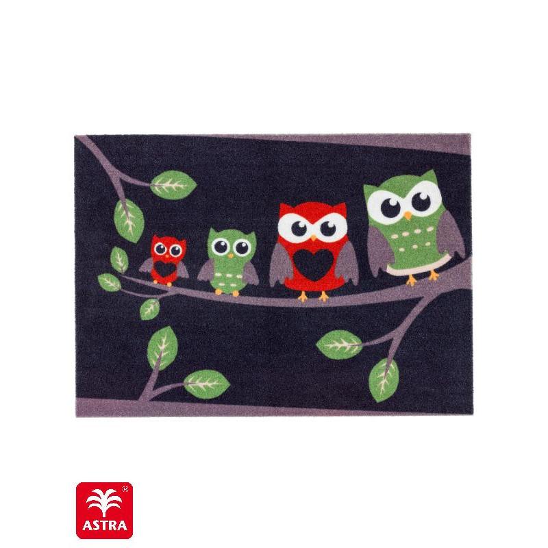 Paillasson imprimé Chouette Branche - Happy Home - Astra