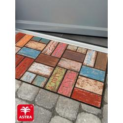Paillasson caoutchouc recyclé extérieur ECO Fashion Tuiles multicolores - Astra