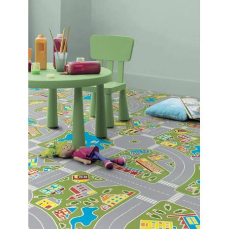 Revêtement PVC - Largeur 2m - Exclusive 300 CONCEPT PLAY - Tarkett - Circuit enfant - Macadam Green