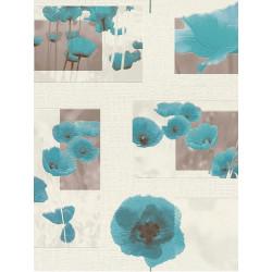 Papier peint intissé Coquelicot bleu. Aqua relief - Rasch
