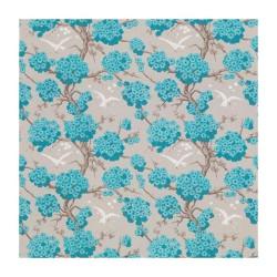 Papier peint Verdanta turquoise/ivoire - Japonerie par Osborne & Little