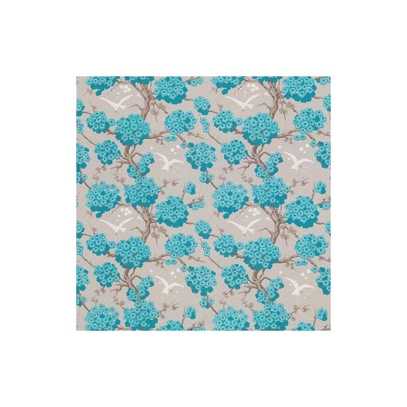 Papier peint Japonerie turquoise et ivoire - VERDANTA - Osborne & Little - W6590-03