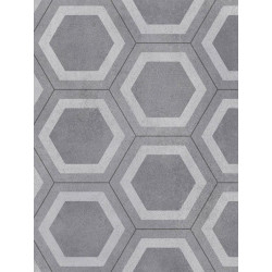 Revêtement PVC - Largeur 3m - Honeycomb Tile gris Exclusive 260 Graphic - Tarkett
