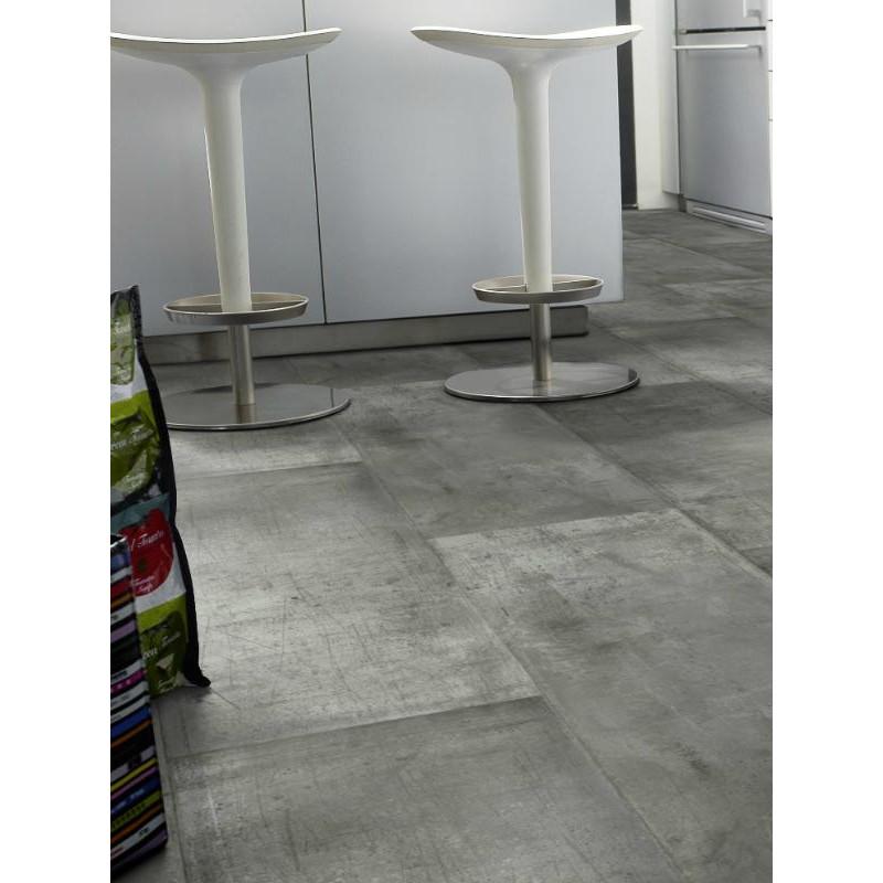 Revêtement PVC - Largeur 4m - Zing Metalic gris - Exclusive 260 Graphic Tarkett