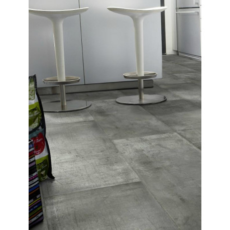 RRevêtement PVC - Largeur 4m - Exclusive 260 - Tarkett - Zing Metalic Grey