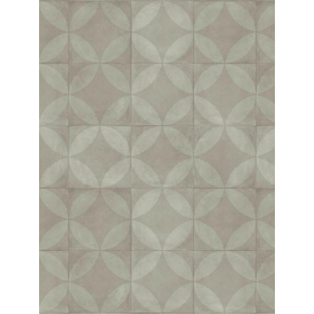 Revêtement PVC - Largeur 4m - Tile Flower gris clair - Exclusive 240 Concept Creative Concrete Tarkett