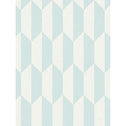 Papier peint intissé scandinave motif losange bleu - BJORN - AS CREATION