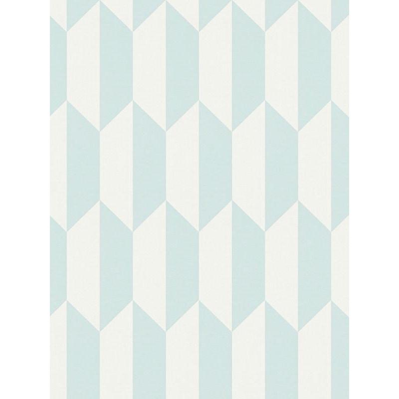 Papier peint intissé scandinave motif losange bleu - BJORN - AS CREATION