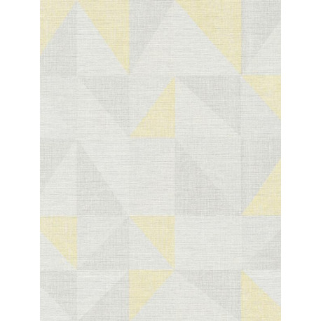 Papier peint Triangle jaune et gris - BJORN - AS Creation - 35181-1
