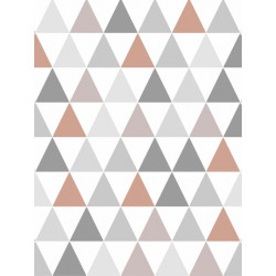 Papier peint Tarek triangles Cuivre, scandinave. Graham & Brown