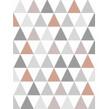 Papier peint Tarek triangles Cuivre, scandinave. Graham & Brown