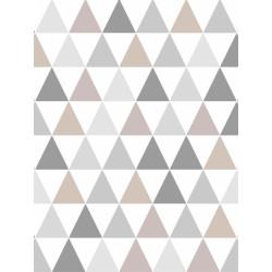 Papier peint Tarek triangles Champagne, scandinave. Graham & Brown