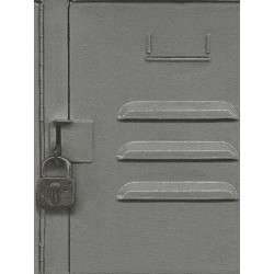 Papier peint intissé Casier Métal gris - CRISPY PAPER Rasch