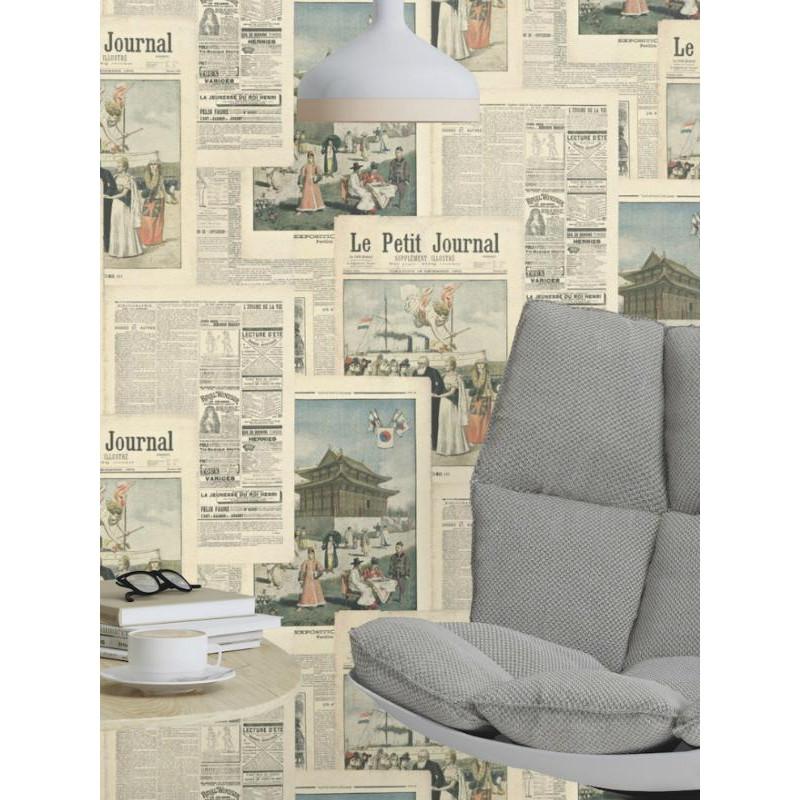 Papier peint intissé Journal en couleurs - CRISPY PAPER Rasch
