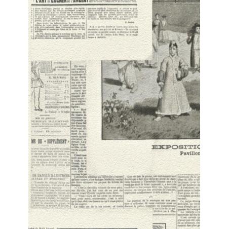 Papier peint intissé Journal en noir et blanc - CRISPY PAPER Rasch
