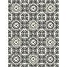 Revêtement PVC - Largeur 3m - Lagos 909D carrelage noir et blanc - Beauflor Boho Chic