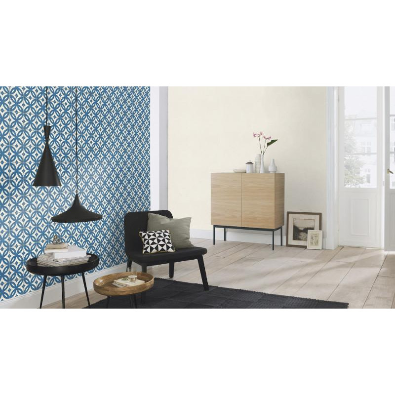 papier peint intiss carrelage ancien bleu crispy paper rasch. Black Bedroom Furniture Sets. Home Design Ideas