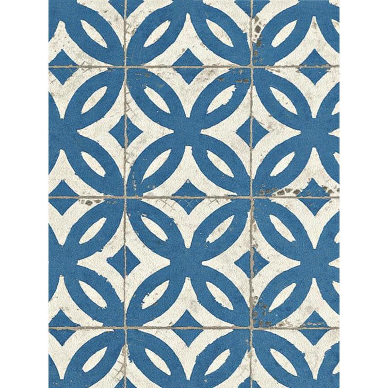 Papier peint Carrelage ancien bleu - CRISPY PAPER - Rasch - 524703