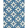 Papier peint intissé Carrelage ancien bleu - CRISPY PAPER Rasch