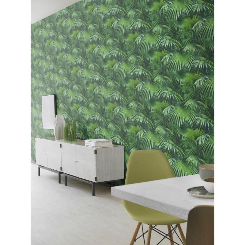 papier peint intiss tropique feuillage vert crispy paper rasch. Black Bedroom Furniture Sets. Home Design Ideas