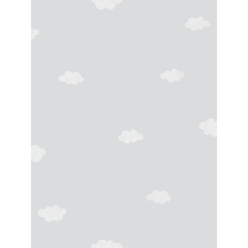 papier peint intiss enfant motif nuages gris my little world casadeco. Black Bedroom Furniture Sets. Home Design Ideas
