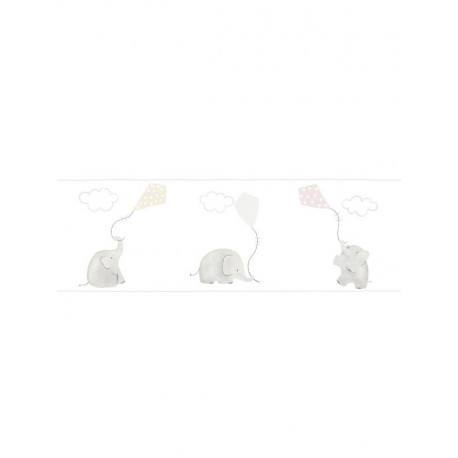 Frise enfant Eléphants rose - MY LITTLE WORLD - Casadeco - MLW29764220