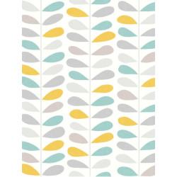 Papier peint intiss tige couleur jaune et bleu ugepa - Papier peint sans raccord ...