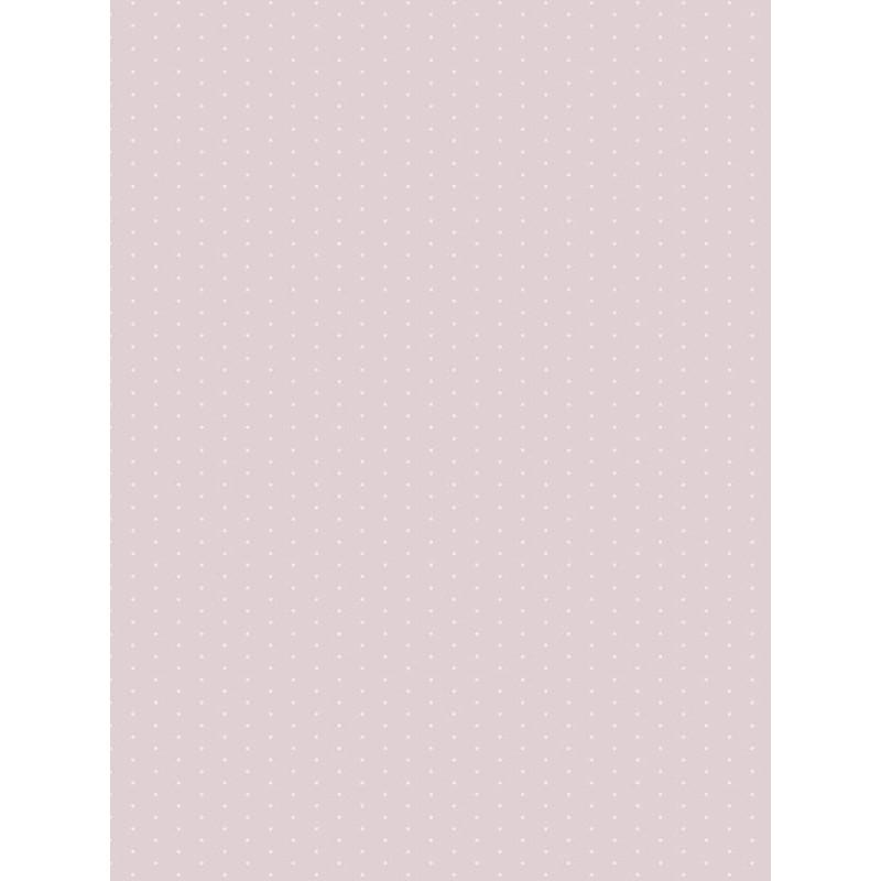 Papier peint intissé enfant à motif Pois rose - MY LITTLE WORLD Casadeco