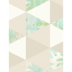 Papier peint Palmiers bleu et taupe - TONIC - Caselio - TONI69436303