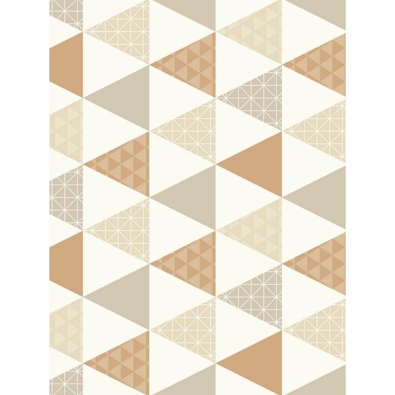 Papier peint Triangles taupe et cuivre - TONIC  - Caselio - TONI69441407