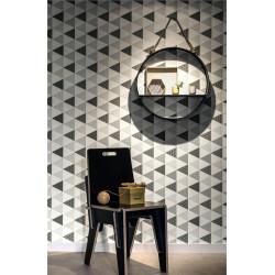 Papier peint intissé Triangles à motif gris/noir - TONIC Caselio