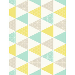 Papier peint Triangle turquoise et jeune - TONIC - Caselio - TONI69446116