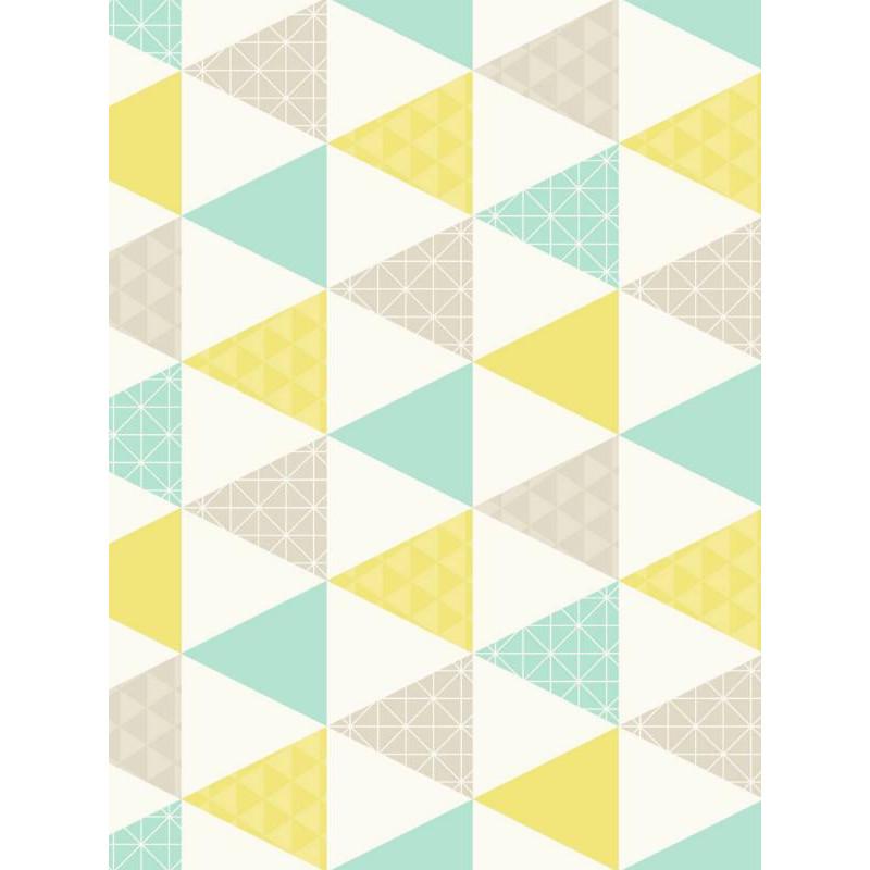 Papier peint intissé Triangles à motif vert - TONIC Caselio
