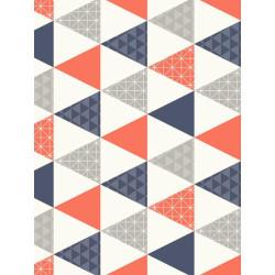Papier peint intissé Triangles à motif orange - TONIC Caselio