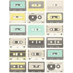 Papier peint Cassettes vert - TONIC - Caselio - TONI69516414