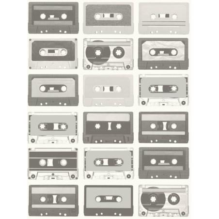 Papier peint Cassettes noir et blanc - TONIC - Caselio - TONI69519229