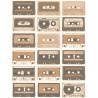 Papier peint intissé Cassettes sépia cuivre - TONIC Caselio