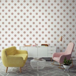 Papier peint motif pois DOTTY Rose Gold - vinyle sur intissé - Graham & Brown