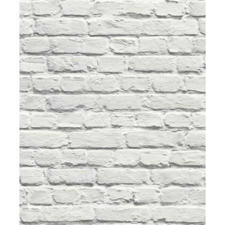 Papier peint Mur de Briques blanc - MURIVA - Ugepa - 102539