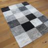 Tapis shaggy motif carrés gris et blanc - Sherpa - BALTA