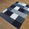 Tapis tout doux Carrés blanc/gris/noir - 160x230cm - Play - BALTA