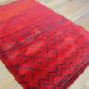 Tapis shaggy ethnique rouge à motifs - 160x230cm - SHERPA