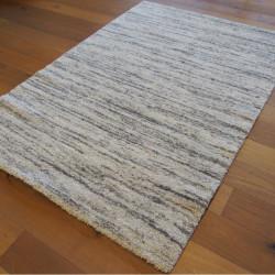 Tapis shaggy Lignes beige et gris - 160x230cm - SHERPA