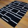Tapis tout doux moderne géométrique noir et blanc - 160x230cm - PLAY