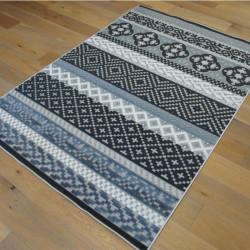 Tapis corde et poil ras Retro à motifs géométriques - 160x230cm - FLOW