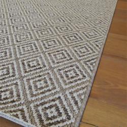 Tapis en cordes motif losange naturel - 160x230cm - INDY