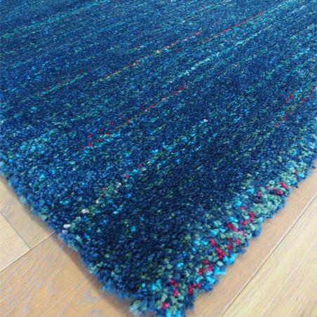 Tapis shaggy Lignes bleu marine moucheté - 140x200cm - SHERPA